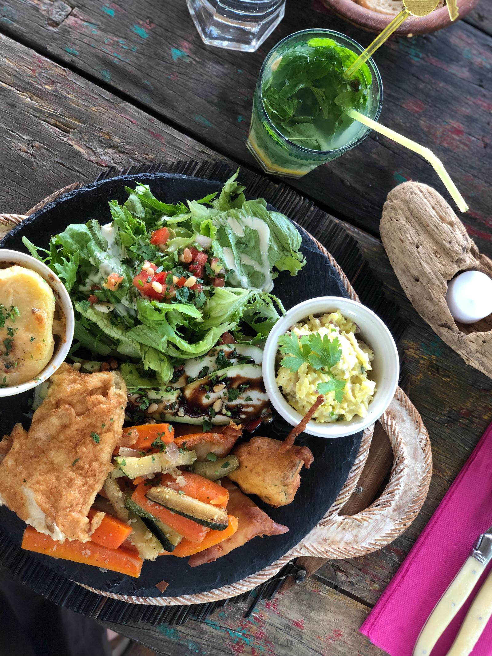 assiette végétarienne la bohème réunion les bons plans de stef